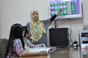 Indonesia Stock Exchange Corner We have a simulation corner for stock exchange trading and analysis experience to equip our students with skills in this realm