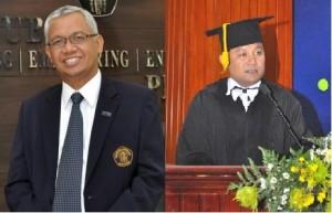 Kiri; Dekan FEB UB Prof. Candra Fajri Ananda, S.E., M.Sc., Ph.D. Kanan; Prof. Eko Ganis Sukoharsono, S.E., M.com-Hons., Ph.D. Ketua Gugus Jaminan Mutu (GJM) FEB UB