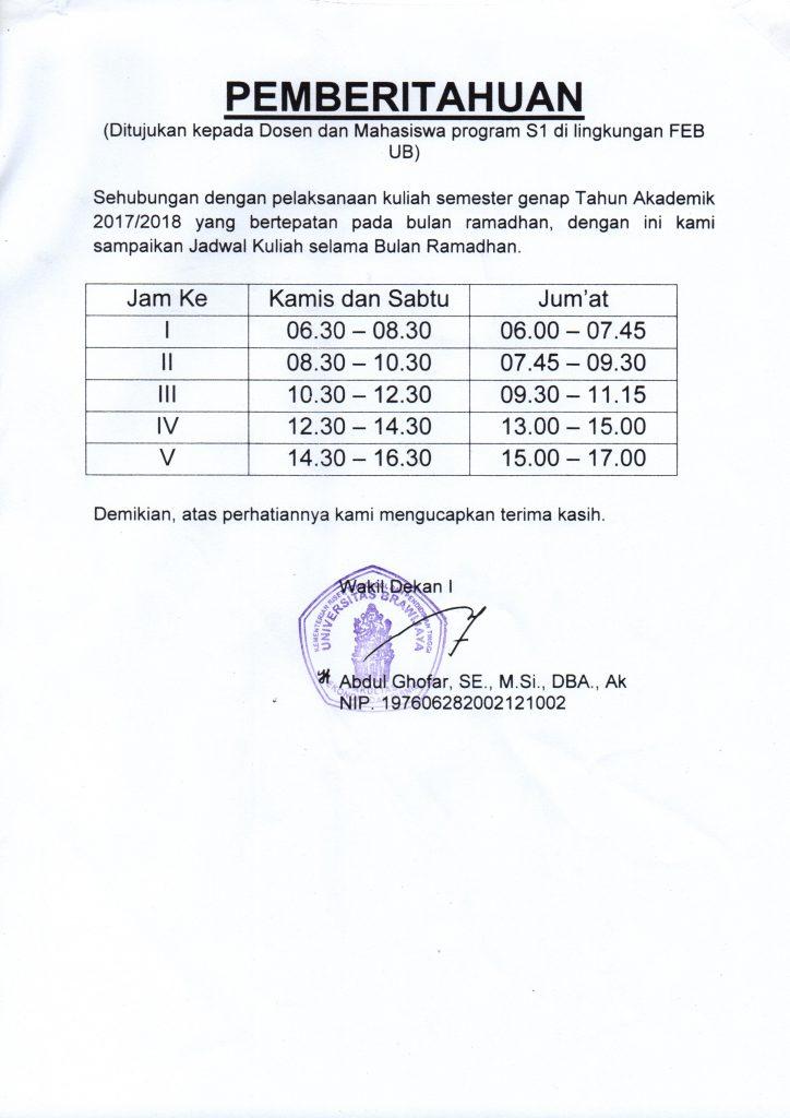 Pengumuman Fakultas Ekonomi Dan Bisnis Universitas Brawijaya